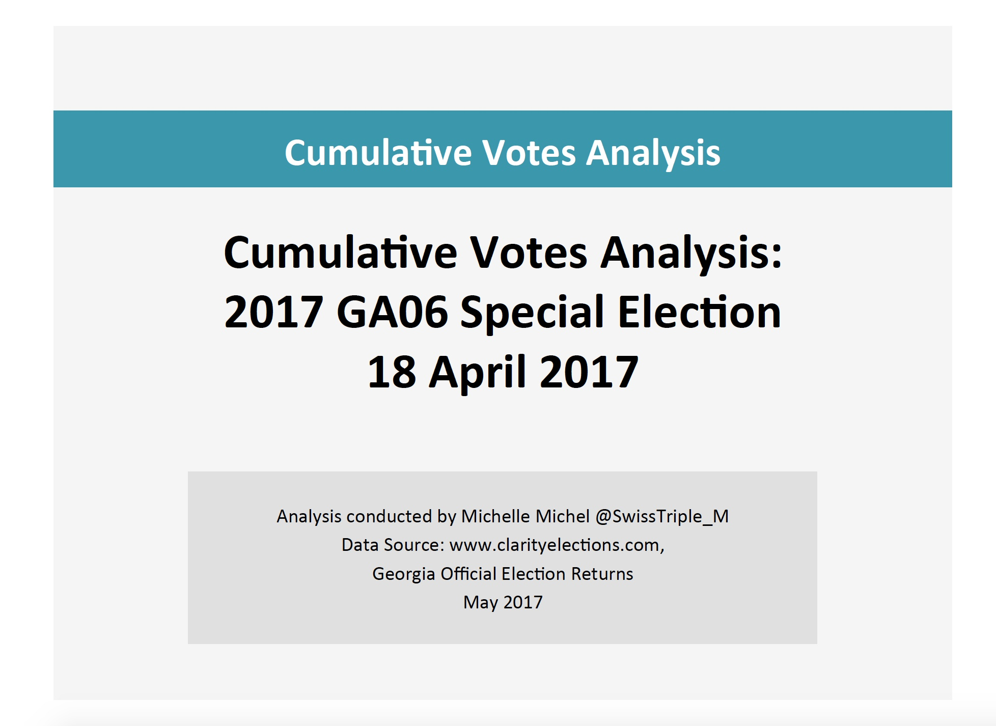 Cumulative Votes Analysis Cover
